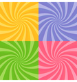 Set of swirly sunbursts vector image vector image