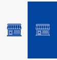 shop online market store building line and glyph vector image vector image