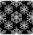 simple seamless pattern with snowflakes on black vector image