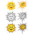 smiling sun vector image vector image