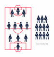 soccer or football player in formation vector image