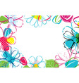spring season banner template background with vector image vector image