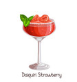 strawberry daiquiri cocktai vector image