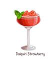 strawberry daiquiri cocktai vector image vector image