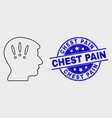 stroke headache icon and scratched chest vector image vector image