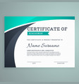 stylish blue certificate design template vector image vector image