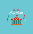 the carnival funfair background style vector image vector image