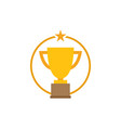 trophy star icon graphic design template vector image