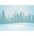 Vintage winter forest landscape horizontal vector image