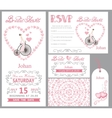 wedding invitationbride onretro bikepink decor vector image vector image