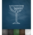 wineglass icon Hand drawn vector image vector image