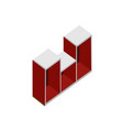 red living room wood cabinet isometric furniture vector image
