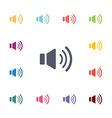 sound flat icons set vector image