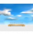 template with a realistic sky and clouds vector image