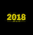 2018 new year with glitch effect vector image vector image
