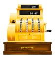antique cash register vector image