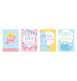 baby shower cards set cute vector image vector image