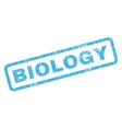 Biology Rubber Stamp vector image vector image