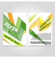 Brochure flier design template concert vector image