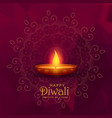 burning diya happy diwali festival background vector image vector image