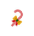 candy cane color icon element of christmas and vector image