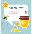 Card for Jewish new year holiday Rosh Hashanah vector image vector image