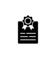 Certificate Icon Flat vector image