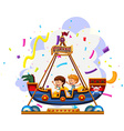 Children riding on viking vector image vector image