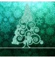 Christmas card stylized green glowing EPS8 vector image vector image