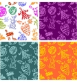 Christmas decorations - seamless pattern set vector image vector image