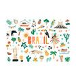 colorful set brazilian culture and nature vector image vector image