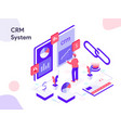 crm system isometric modern flat design style vector image