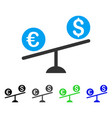 currency trade swing flat icon vector image vector image