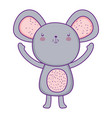 cute and little mouse character vector image vector image