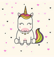 cute unicorn face vector image vector image