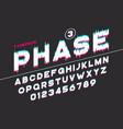 Decorative futuristic font design alphabet