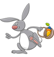 easter bunny comic character vector image vector image