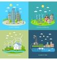 Eco City Design Concept Set vector image