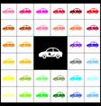 electric car sign felt-pen 33 colorful vector image vector image