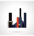 Factory flat color icon vector image vector image