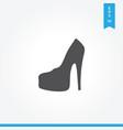feminine shoe icon simple car sign vector image vector image