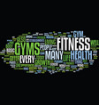 fitness gym text background word cloud concept vector image vector image