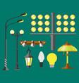 flat electric lantern city lamp street urban vector image vector image