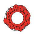 flat line donut design vector image vector image