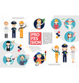 flat professions infographic concept vector image vector image
