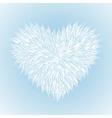 fluffy white heart vector image vector image