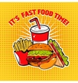 Food Pop Art Poster vector image vector image