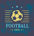 football logo template vector image