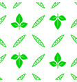 green soybeans seamless pattern vector image vector image