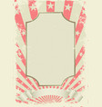 grunge vintage background with decorative frame vector image vector image